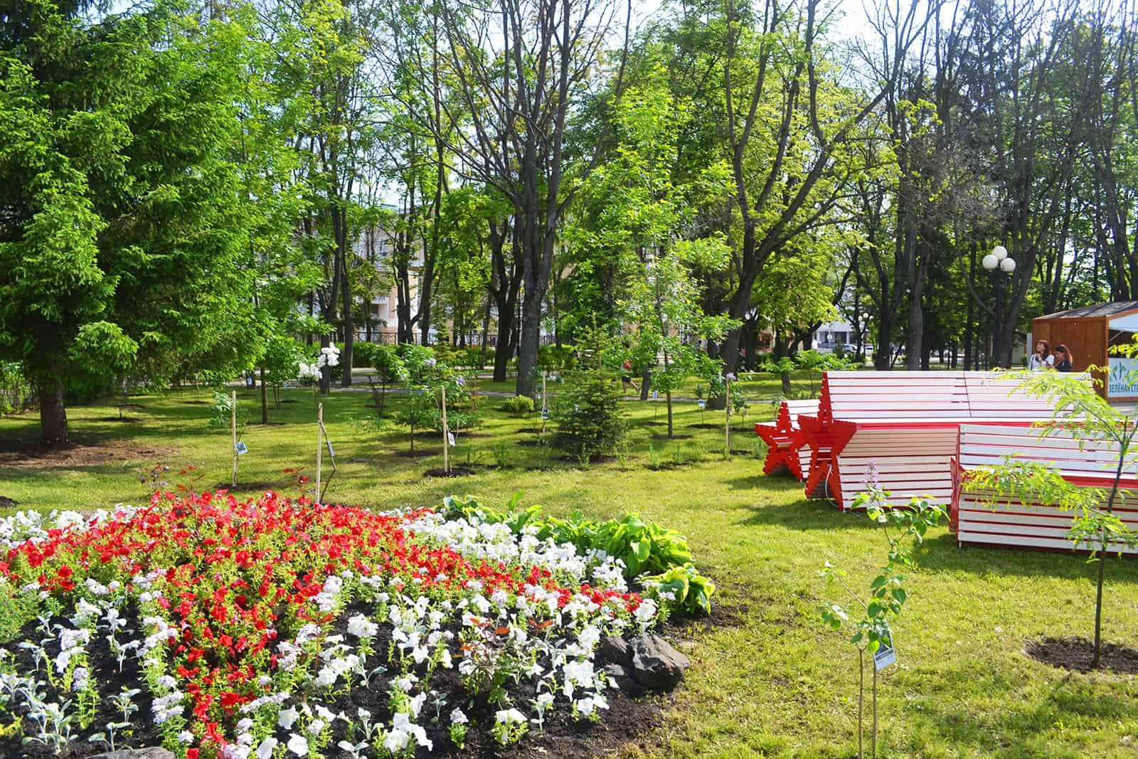 Символы Победы представил НИУ «БелГУ» на форуме «Зелёная столица»